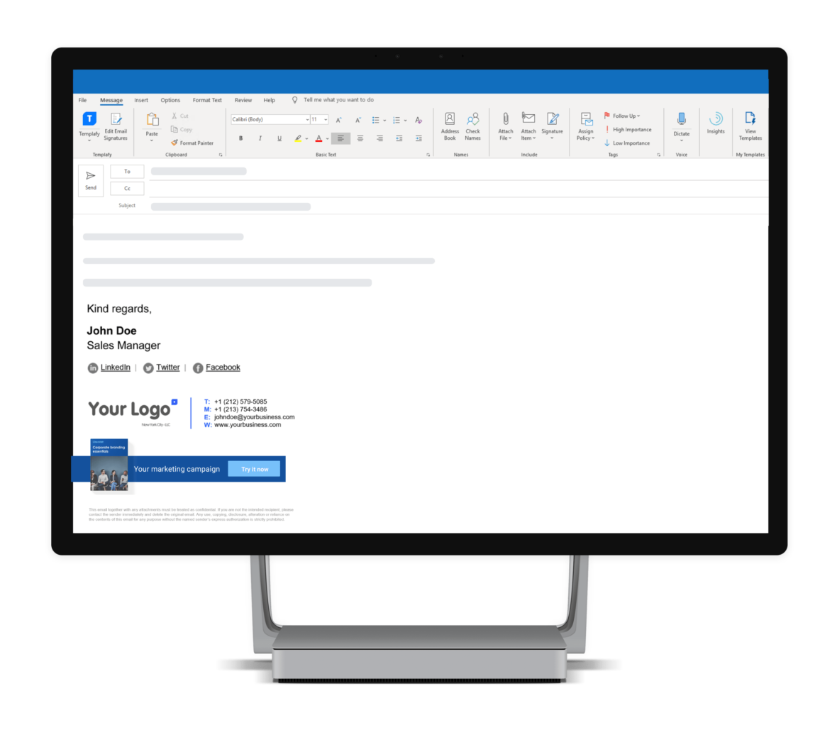 software for managing email signatures on mobile