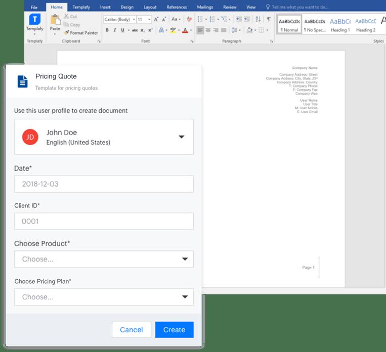 Dynamisch documenten opbouwen