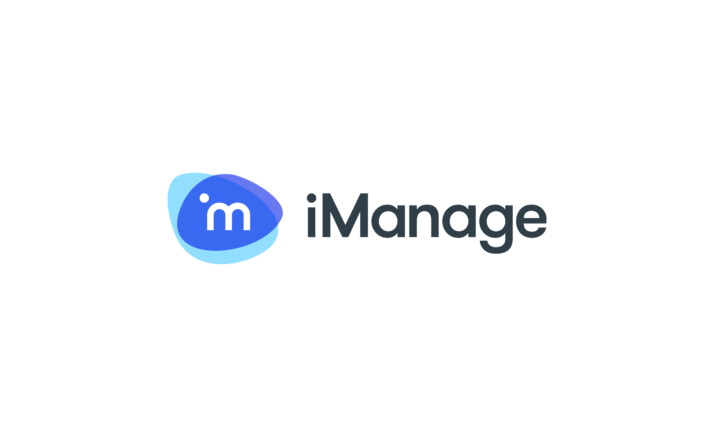 iManage logo in blue with text in black