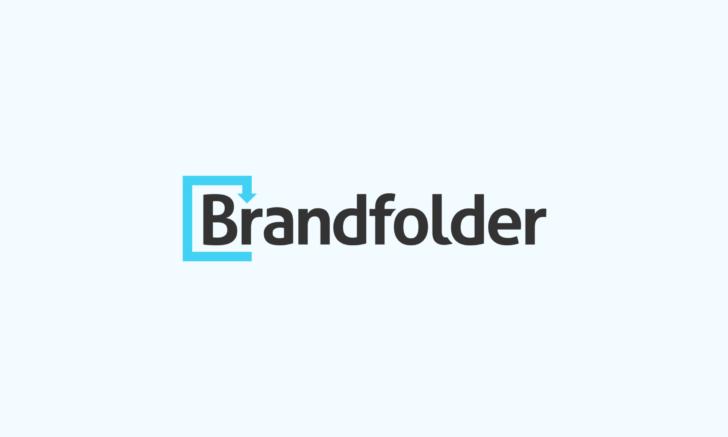 Brandfolder logo in black and blue